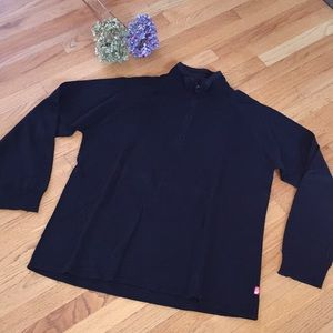 North Face Black Zip-Up Sweater